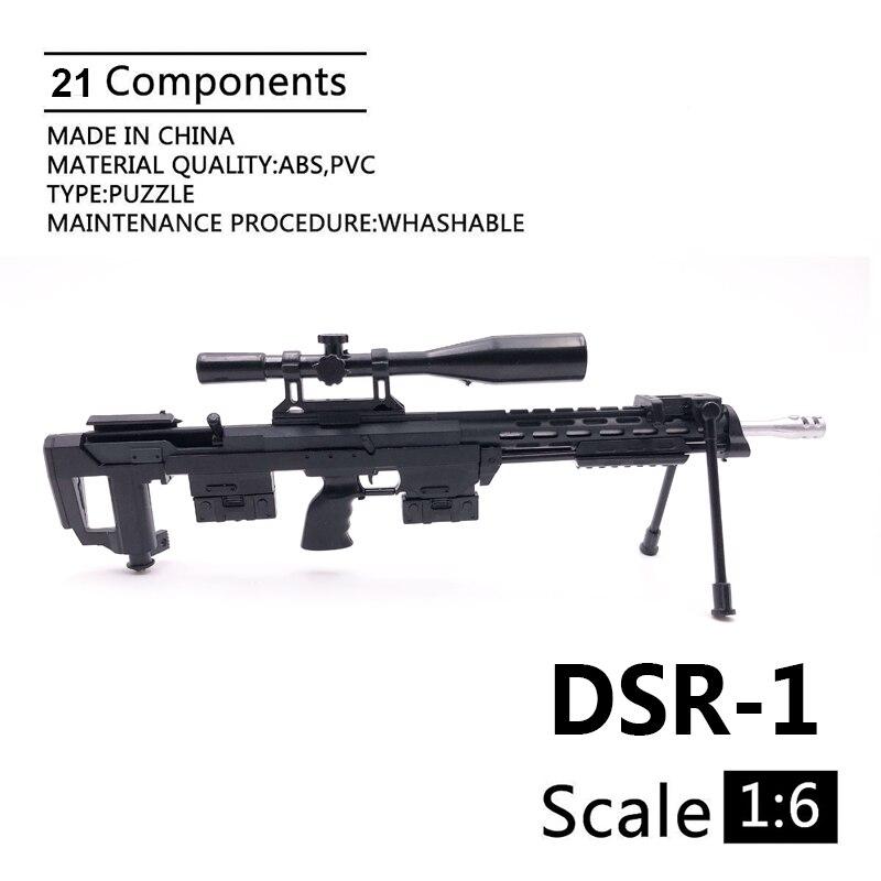 """Noir fusil d/'assaut pour 12/"""" Action Figure 1:6 Scale"""