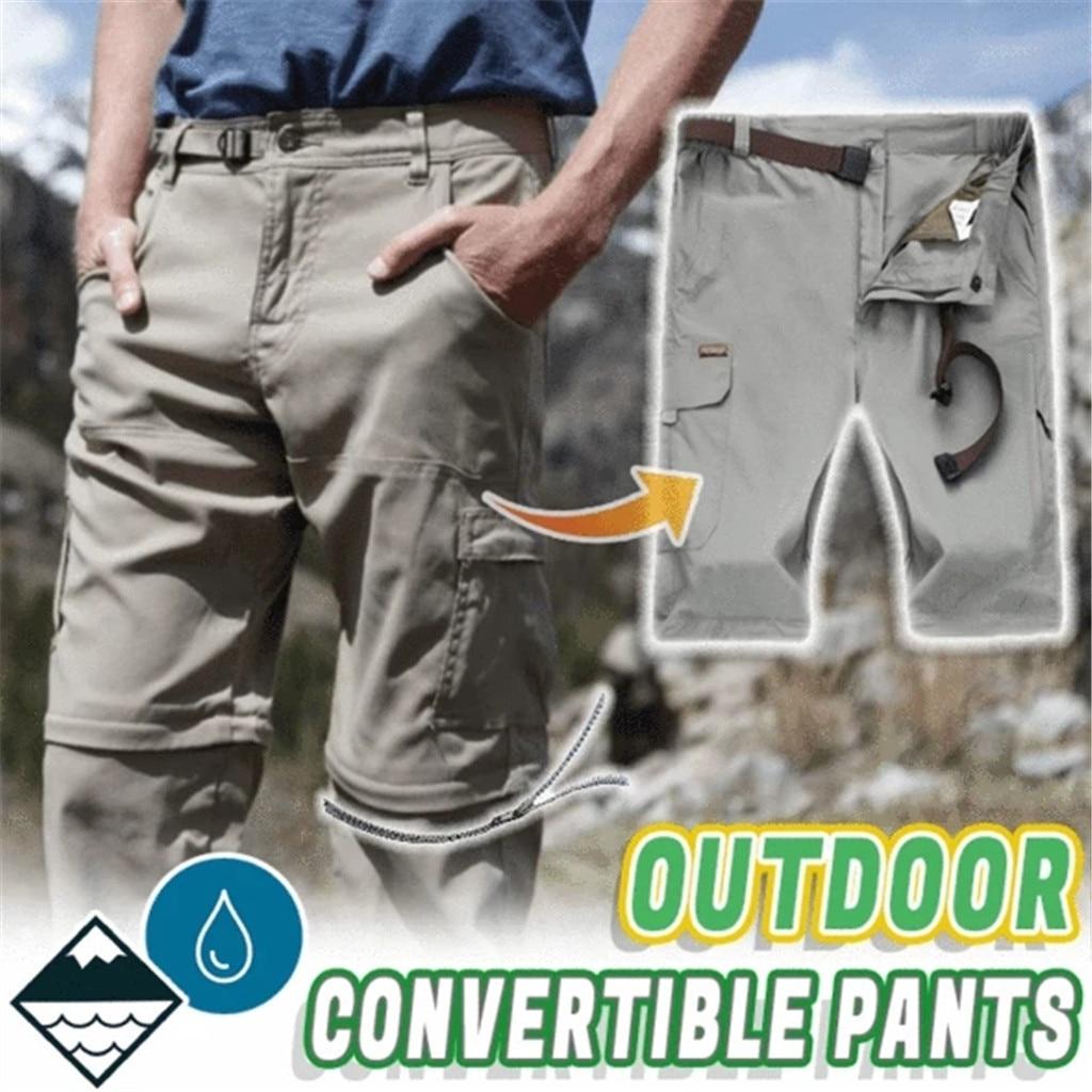 Men Quick Dry Hiking Detachable Quick-drying Pants Waterproof Casual Trousers Outdoor Waterproof Convertible Pants Hot Sale 40
