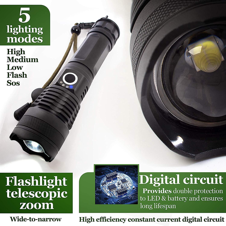 lâmpada grânulo zoomable 3 modos de iluminação