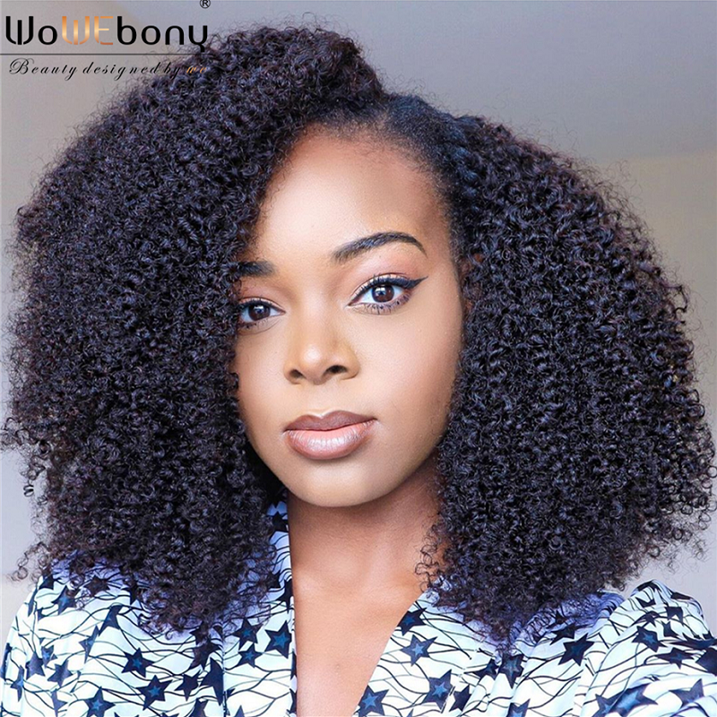 Afro Kinky Curly U Part Wig Human Hair Wigs Brazilian Remy 130 150 180 250 Density Human Hair Wig 8-26 Inch For Black Women