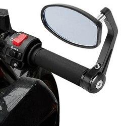 Motorbike mirrors bar end mirror Rear view Motor handlebar end mirror cafe racer retrovisor moto Motorcycle mirrors