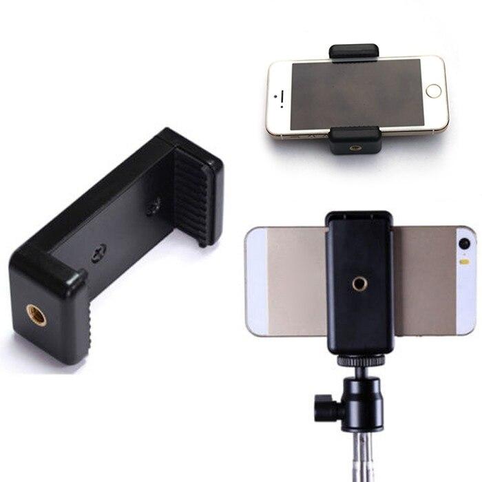 Adaptador de clipe de telefone móvel durável universal para tripé monopod titular braçadeira suporte suporte montagem preto