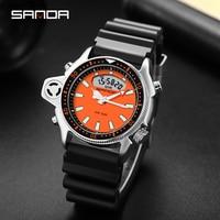 2021 SANDA Neue Sportliche männer Uhren 5ATM Wasserdicht Casual Military Quarzuhr für Männer S Schock Männlichen Uhr relogio masculino