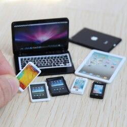 Кукольный домик, миниатюрный мобильный телефон, планшетный компьютер для пуллипов, Барби OB11, кукольный домик, мебель, аксессуары, игрушка, 1/...