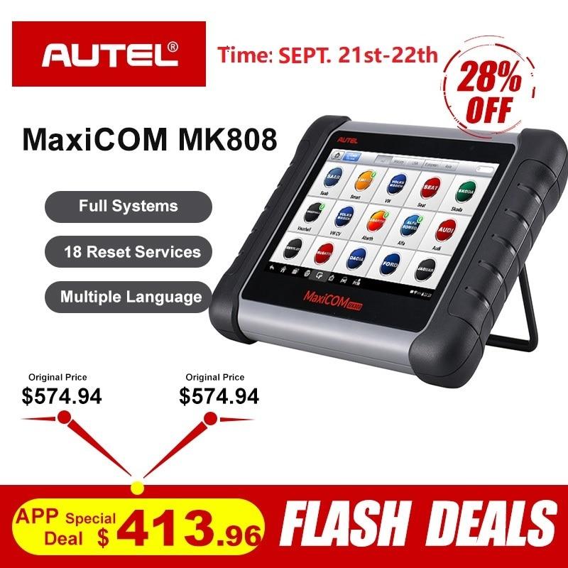 Autel MaxiCOM MK808 OBD2 Scanner Professional Auto Car Diagnostic Scan Tool OBD 2 Code Reader ODB2 Key Coding MX808 MD802 DS808