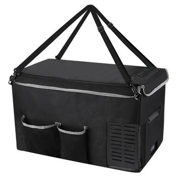 Joytutus 25L Car Refrigerator Storage Bag Portable Carry Bag for Mini Fridge Keep Cooling Drip-proof -22℃ 45W 120V