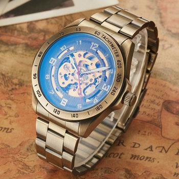 Uhren 2020 nowych moda klasyczne zegarki SHENHUA mężczyźni zegarki szkielet automatyczne mechaniczne zegarki zegarki sportowe męskie Aliexpress tanie i dobre opinie WoMaGe 3Bar Klamra Moda casual Automatyczne self-wiatr 26cm STAINLESS STEEL Odporny na wstrząsy Odporne na wodę 1614015