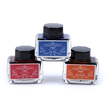 1 Bottle Pure Colorful 15ml Fountain Pen Ink Non-carbon Refilling Inks Student Stationery School Office Supplies