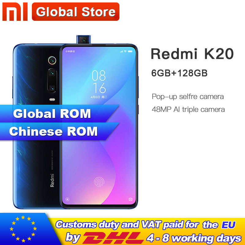 """Global Rom Xiaomi Redmi K20 6GB 128GB Mobilephone Snapdragon 730 48MP Rear Camera Pop up Front Camera 4000mAh 6.39"""" AMOLED-in Cellphones from Cellphones & Telecommunications"""
