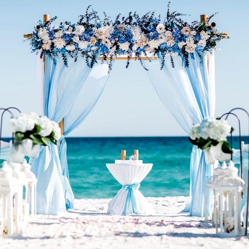 Romantic Crystal Tulle Fabric Organza DIY Craft Wedding Party Arch Decoration 5M