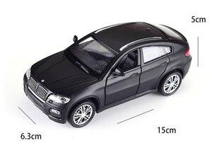 Image 3 - حار سبيكة دييكاست نموذج سيارة 1:32 BMW SUV X6 وامض الصوت الطفل سيارة معدنية اللعب التراجع عجلات الاطفال هدايا عيد الميلاد
