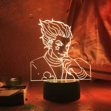 3D lampka nocna Anime Hunter X Hunter Nightlight Manga prezent Hunter X Hunter lampka nocna dla dzieci dekoracja sypialni dziecka Dropshipping tanie tanio NoEnName_Null Night Light cartoon CN (pochodzenie) ROHS Noc światła Z tworzywa sztucznego Żarówki led Touch 110 v 220 v