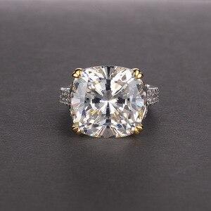 Image 3 - Pansysenチャーム100% 本物の925スターリングシルバー14*14ミリメートルシトリン宝石リング女性のための婚約記念ファインジュエリー