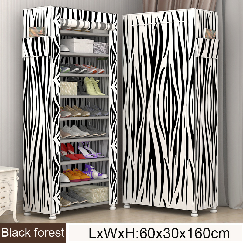 Multi Layers Shoe Rack Nonwoven Fabric Shoes Organizer Rack Living Room Furniture Modern Style DIY Assembled Simple Shoe Cabinet