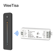 все цены на WW CW LED Controller CCT 2CH 12V 24V DC 10A LED Dimmer RF 2.4G Wireless Remote Control for Single Color Dual White LED Strip онлайн