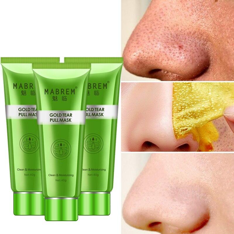 40g  MABREM Gold Blackhead Remove Stains Shrink Pore Mask Improve Rough Skin Acne Depth Replenishment Oil-Control