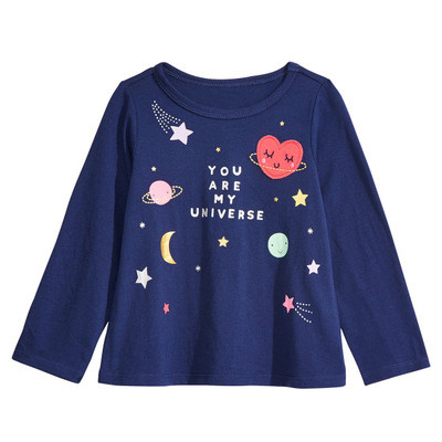 VIDMID Baby Girls cotton butterfly T-shirt Girls cotton Casual kids girls T-Shirts Children long sleeve t-shirt tops 7121 03 5