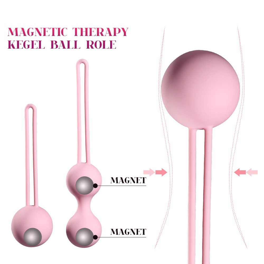 Silicone Magnetic Kegels Balls Egg Smart Ball Ben Wa Vaginal Tighten Exercise Machine No Vibrator Geisha Ball Sex Toys For Women