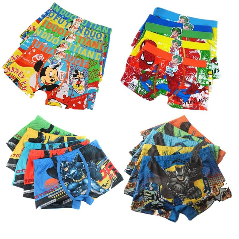 15pcs/lot Kids Underpants For Boys Underwears Panties Boys Boxers  Underwears Child Shorts 2-10Y