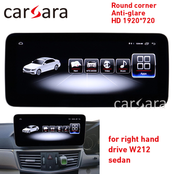 Dashboard monitor RHD E CLASS W212 android 8 round corner blue ray screen E200 HD 1920 anti-glare 4g ram device E250 NAVI radio image