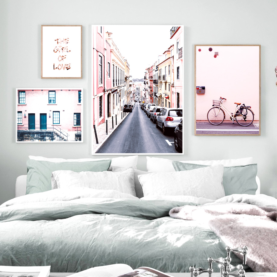 Paris Building Landscape Wall Art Print Canvas Painting Nordic Canvas Poster And Prints Wall Pictures For Living Room Decor in Painting Calligraphy from Home Garden