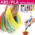 Qualité produit pla/abs 1.75mm 20 couleurs 3d stylo filament pla 1.75mm pla filament abs filament 3d stylo plastique 3d filament arc-en-ciel