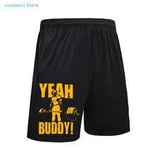 Homem shorts sim amigo construção do corpo casual curto em torno do pescoço roupas impresso preto correndo esporte cintura shorts