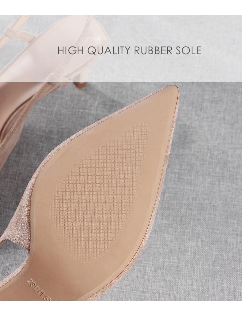 Woman's Spring 6cm Thin High Heels Slingbacks 16