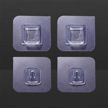 10 paire Double face mur adhésif crochet pâte prise prise support câble stockage prise fixation organiser couturières étanche réutilisable