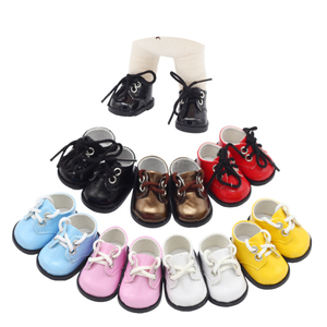 1Pair Dolls Sequins Shoes suitable for 14.5inch American doll, BJD exo Dolls Boots the best Christmas gift give children(China)