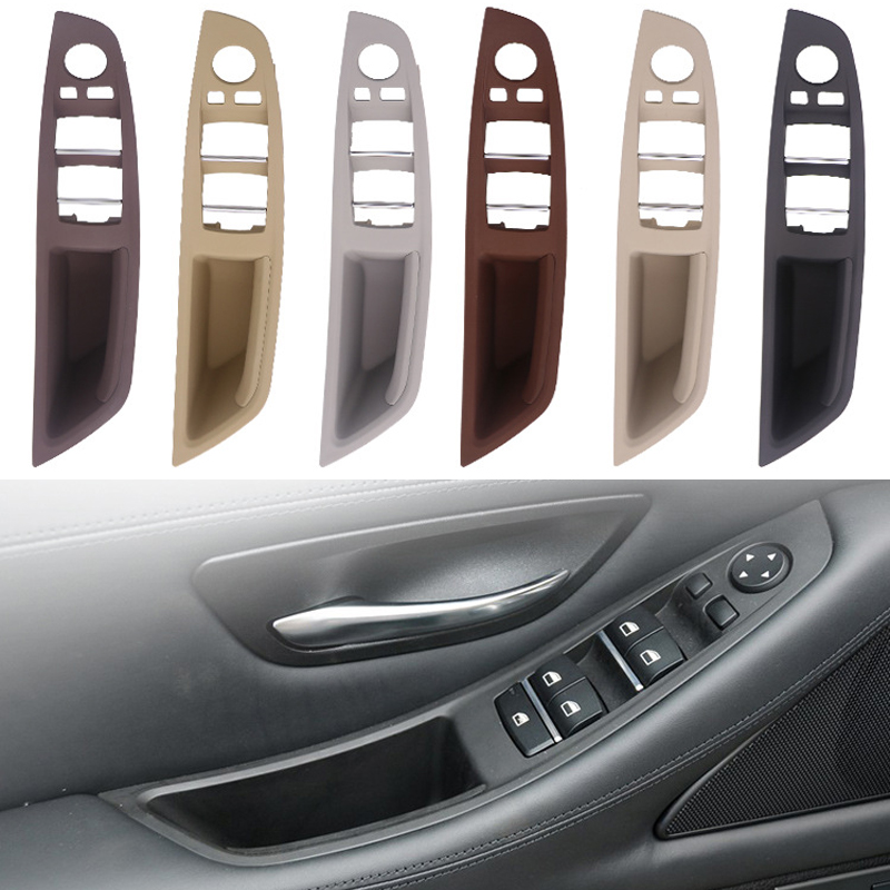 Car LHD Inner Door Handle For BMW F10 F11 F18 5 Series Left Front Interior Panel DriverS Seat Button Switch Frame