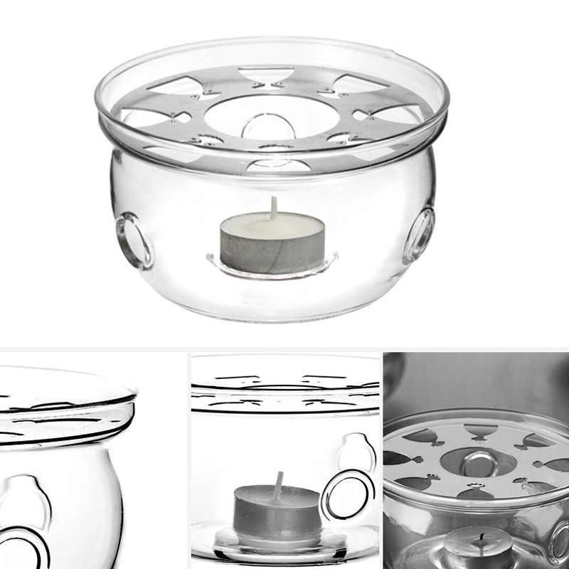 Nuovo Portatile Trasparente Teiera di Base Titolare Caffè Acqua Tè Warmer Candela Più Calda di Vetro Resistente Al Calore Teiera Warmer Isolamento di Base