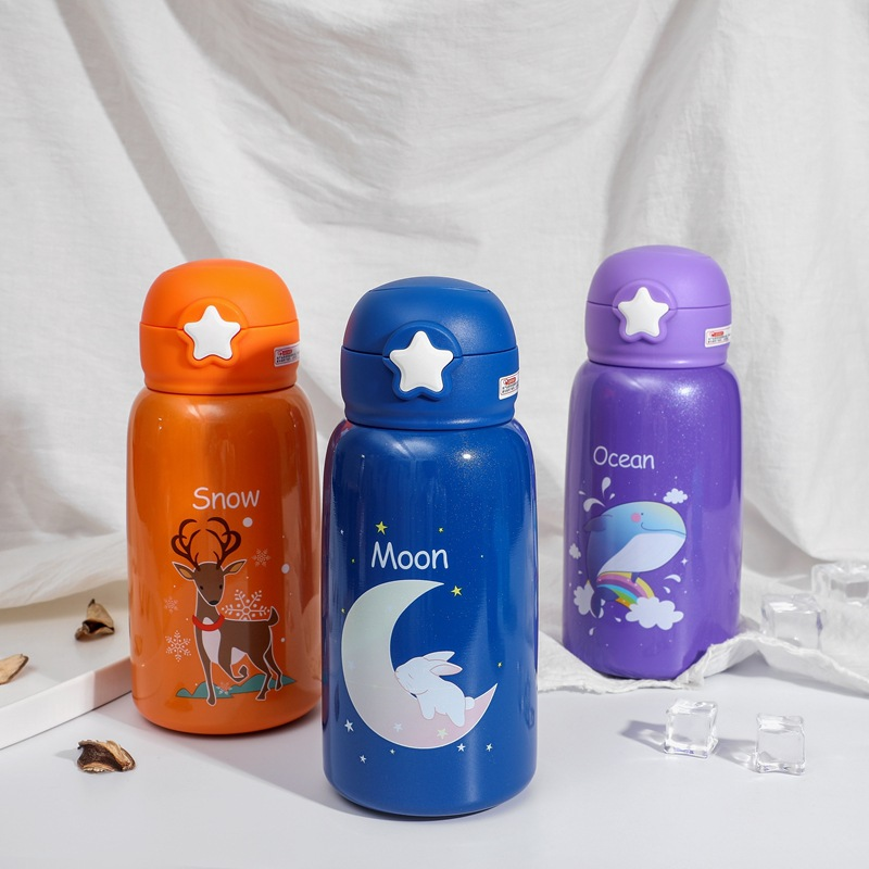 550ml Baby Feeding Cup Stainless Steel Milk Thermos for Children Insulated hot water Bottle leak-poof thermal Cup