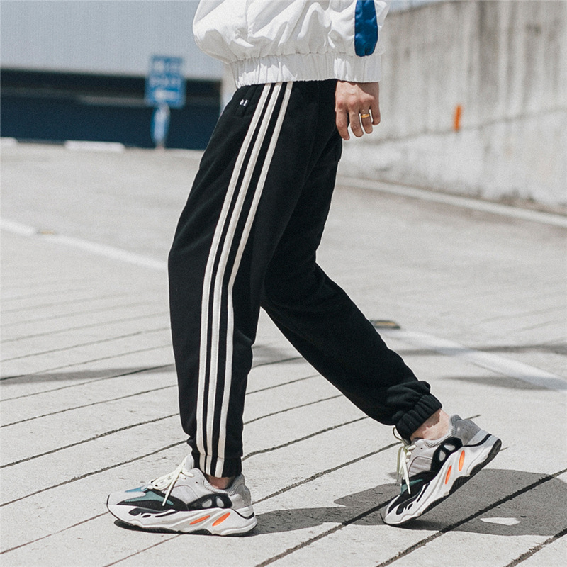 Men Pants Striped Jogger Autumn Casual Mens Sweatpants Sportswear Long Trousers New Straight Pants Man Fitness Clothing