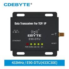 E90 DTU 433C30E Ethernet Modbus Uzun Menzilli 433 MHz 1W IoT uhf 3km Kablosuz Alıcı rf Modülü 433 MHz verici alıcı