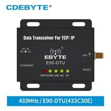 E90 DTU 433C30E Ethernet Modbus de largo alcance 433 MHz 1W IoT uhf 3km transceptor inalámbrico Módulo de radiofrecuencia 433 MHz transmisor receptor