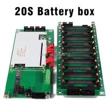 цена на 18650 Battery Holder 74v BMS 20 Power Wall 18650 Battery Pack 20 BMS Lithium-Ion Lithium DIY Motorcycle Battery 20S Battery Box