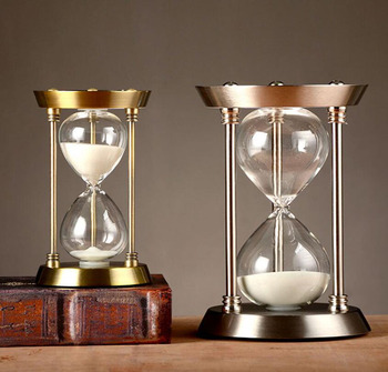 Metal Crafts Stand Hourglass Sandglass Sand Clock Timers Sand Timer Home Decor Birthday Gifts 15/30 60 minutes часы песочные недорого