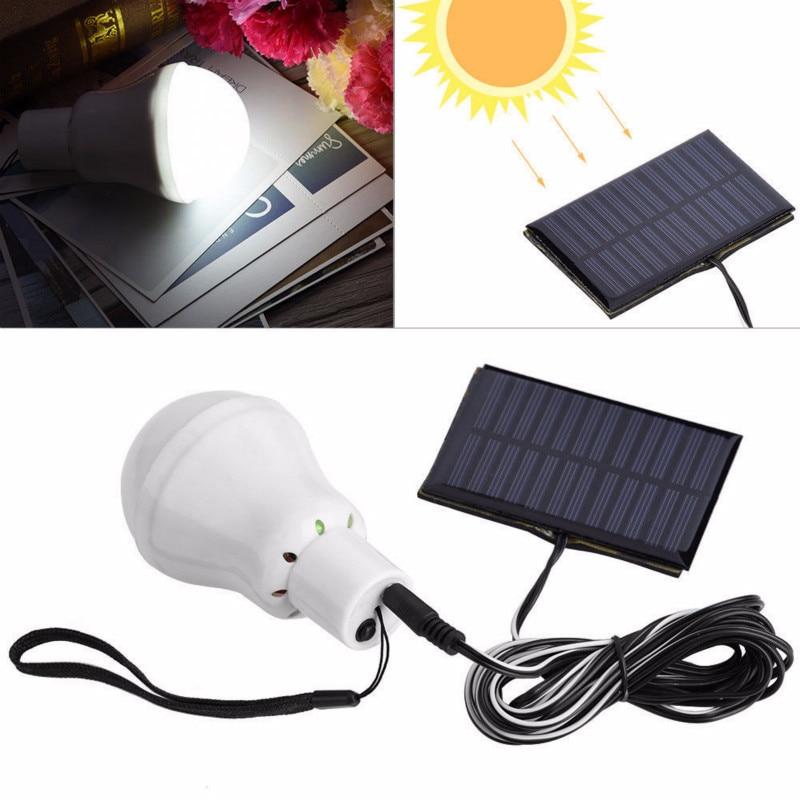 Luz solar do diodo emissor de luz separável com fio, painel solar alimentado lâmpada de emergência 110lm lâmpada posta a luz solar para a iluminação exterior do jardim