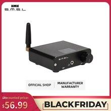 SMSL B1 HiFi 스테레오 오디오 Bluetooth DAC 수신기 NFC 광 동축 DAC 디지털 오디오 디코더 24 시간 재생 시간 검정
