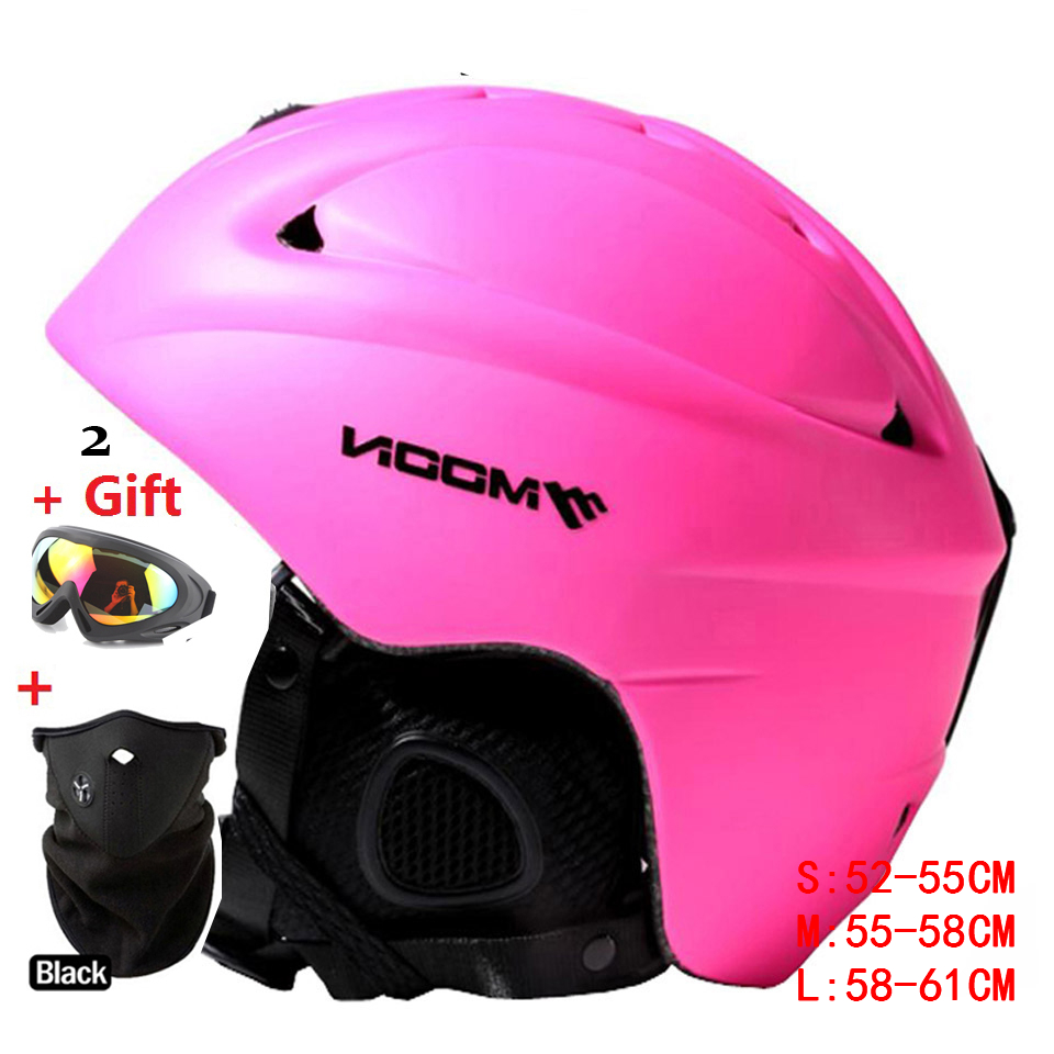 PINK Color!  Skiing Helmet Hat Autumn and Winter Adult Male Women Skiing Flanchard Equipment Snow Sports Saftly Helmets