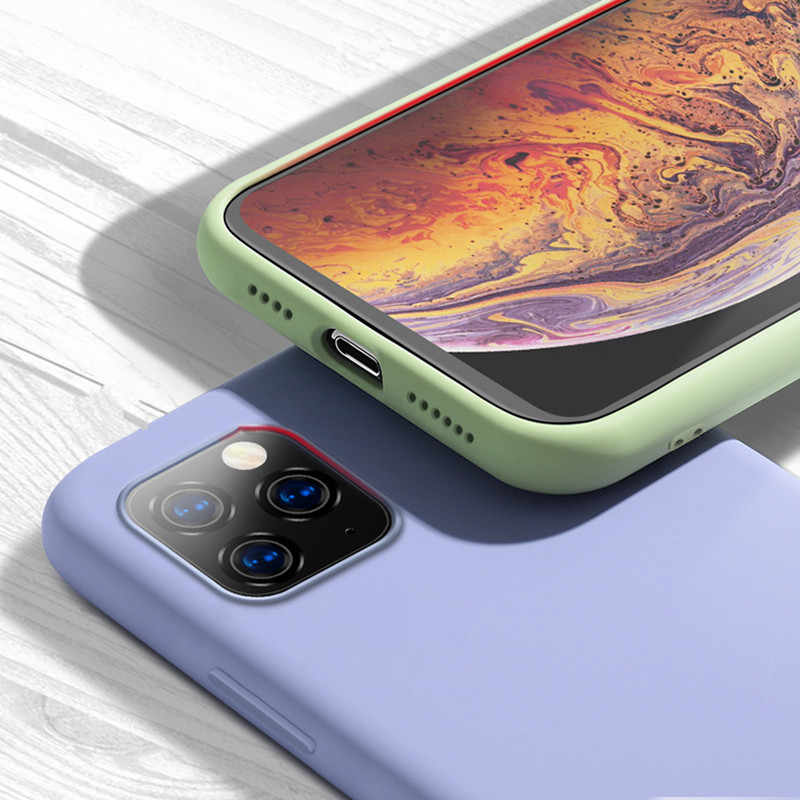 Luxe Case Voor iPhone X XS 8 7 6s Plus Matte Soft TPU Siliconen telefoon Case Voor iPhone 11 pro XS MAX Back Cover Coque Fundas Capa