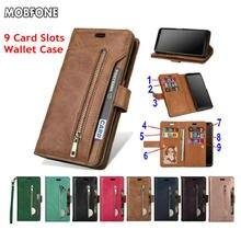 Folio Book Wallet Leather Case Voor Xiaomi Mi A3 Mi 9 Lite Se Rits Luxe Flip Cover Op Redmi Note 9 9S 8 7 Pro Redmi 7 7A Tas