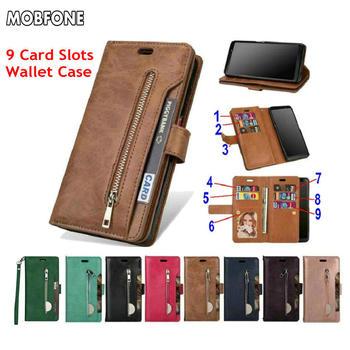 Folio Book Wallet Leather Case For Xiaomi Mi A3 Mi 9 Lite SE Zipper Luxury Flip Cover On Redmi Note 9 9S 8 7 Pro Redmi 7 7A Bag