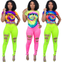 Friends t shirt 2019 New Summer Fashion Casual Galaxy Letter Tie Dyed 3d Design Print O-Neck Short Sleeve T-shirt Women Tee Tops цены