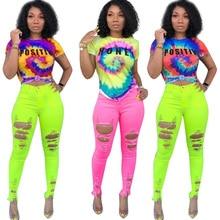 цена на Friends t shirt 2019 New Summer Fashion Casual Galaxy Letter Tie Dyed 3d Design Print O-Neck Short Sleeve T-shirt Women Tee Tops