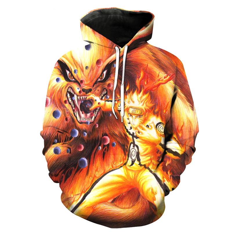 Best-selling Anime Naruto 3D Men And Women Hoodies Sweatshirt Fashion Sasuke Spring / Autumn Kakashi 3D Casual Harajuku Pullover