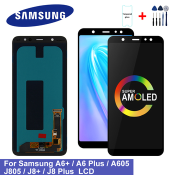 Super AMOLED For Samsung Galaxy A6 Plus 2018 A605 A605F A605FN Screen LCD Display Touch screen Assembly For Samsung A605 Display