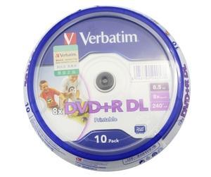 Image 2 - MLLSE 10 штук Verbatim и термопереноса DVD с поверхностью, подходящей для печати + R DL 8X двойной Слои 10 дисков DVD + R dl 8,5 ГБ с оригинальной коробки для тортов и пирожных