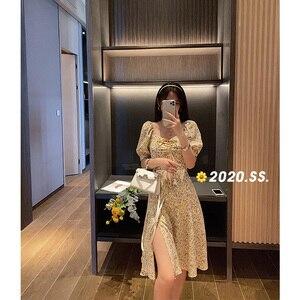 Image 4 - MISHOW 2020 yaz yeni elbiseler kadınlar Vintage A Line Retro Mini elbise kısa kollu Vestido kadın giyim MX20B1087